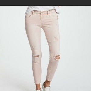 Blank NYC Blush Distressed Skinny Ankle Jeans